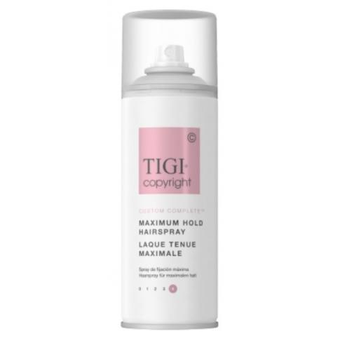 Лак суперсильной фиксации волос TIGI COPYRIGHT CUSTOM CARE™ MAXIMUM HOLD HAIRSPRAY 100 мл TRAVEL SIZE - Lookstore (1)